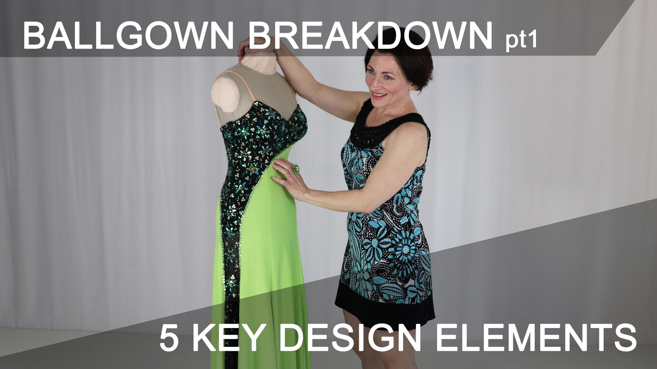 Strong Design Elements Make A Ballgown Shine