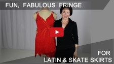 Fun, fabulous fringe for Latin, Country and Skater dresses