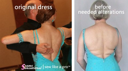 Is your Dancesport, Ballroom dance, Latin dance, Country or skater dress too small? Get clever alterations to make it work for you!