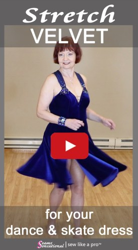 Stretch velvet adds depth and richness to Dancesport, Country and Skater dresses