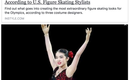 Learn to make Dancesport, Country, Figure Skating costumes, InStyle magazine, Olympics 2018, figure skating costumes