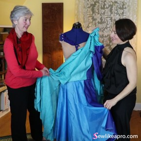 online sewing school for making Dancesport, Country and ice skating dresses