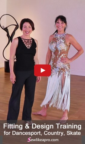 Fringe and lace Latin Dancesport dress, made by Dore Designs