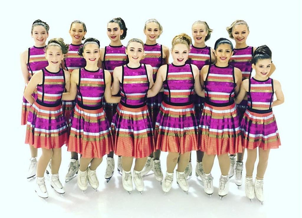 Jannika Lilja, synchro skate dress designer, Triangle Formation skate team