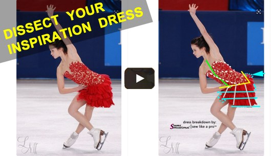 ice dance dress, figure skating dress, Anna Cappellini red lace Paso Doble 1