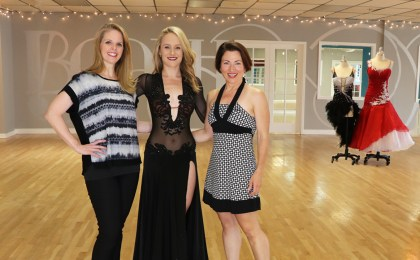 Sherri Hansen, Sew Like A Pro™ members and Teresa Sigmon . . . Smooth dance dress, ballgown, mesh