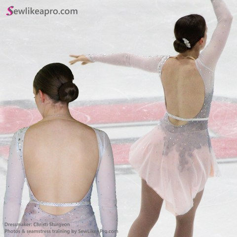 open back ice skating costume, 2019 adult nationals