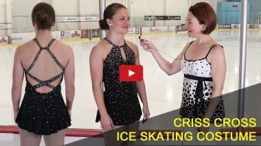 crisscross dress ice skating costume, video