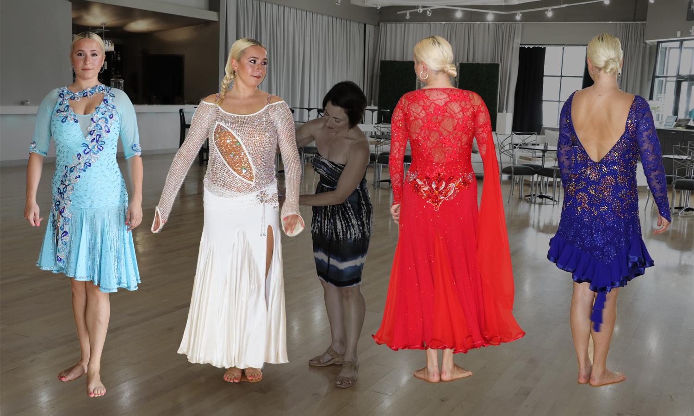 shop for a ballroom dancing dress, competition ballroom dance costume, Smooth Dancesport ballgown