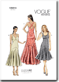 Vogue pattern 8814 ballroom dance dress