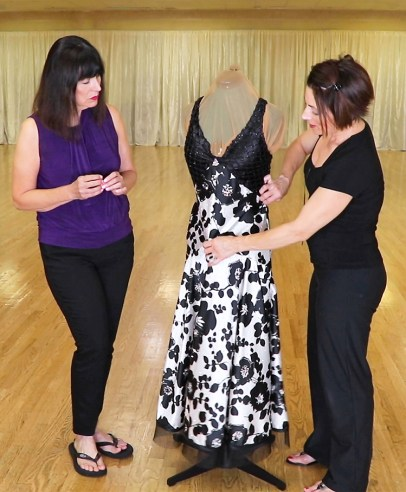 Vogue pattern ballroom dance dress, bias cut