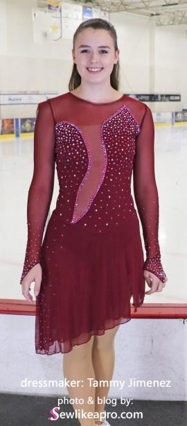 keyhole back design ice dance dress, Alyssa, Tammy Jimenez, Ice Den Chandler, full front