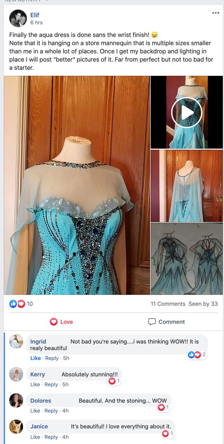 Ballgown Design Challenge dress design women compete Dancesport ballroom Country dance Standard dance costume