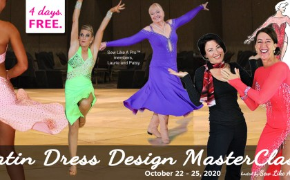 Latin dance dress design ballroom dance costume masterclass