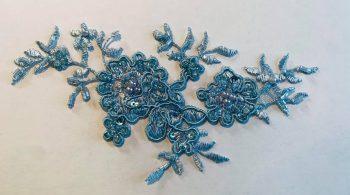 beaded lace applique motif