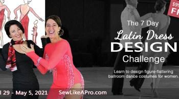 7-day Latin dance dress design challenge, April 29 - May 5, 2021