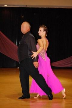 pink smooth ballgown with consistent design, Christina Musser, head instructor at Spotlight Ballroom