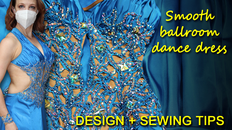 Tips for Sewing a Charmeuse Ballroom Dance Dress