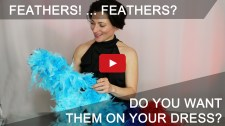 feathers on Dancesport, Country and skate dresses