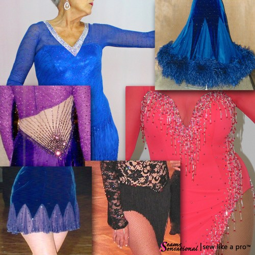 Get professional training to sew mesh, skirt yokes, fringe