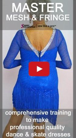 Master sewing mesh, skirt yokes, fringe