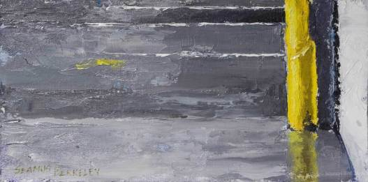 """Grey and Yellow, 8"""" x 16"""", oil on canvas"""