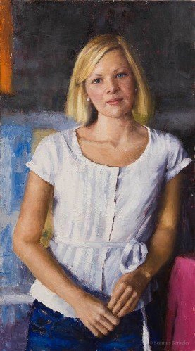 Portrait of a Young Woman, oil on canvas
