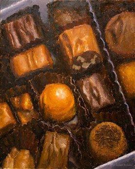 Box of Chocolates, oil on canvas