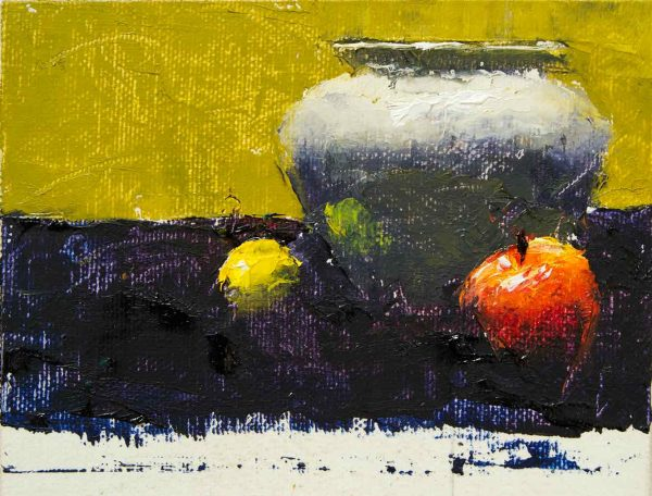 Lemon-White-Vase-Apple-Painting-Seamus-Berkeley