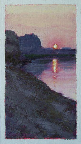 On the Edge Painting Seamus Berkeley
