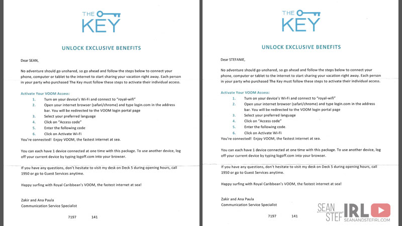 The Key – Unlock Exclusive Benefits on Royal Caribbean – Sean and