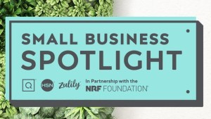 Small Business Spotlight Logo from NRF andQVC