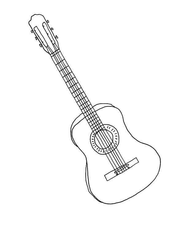 Classic Guitar Coloring Pages 1 Sean Of The South