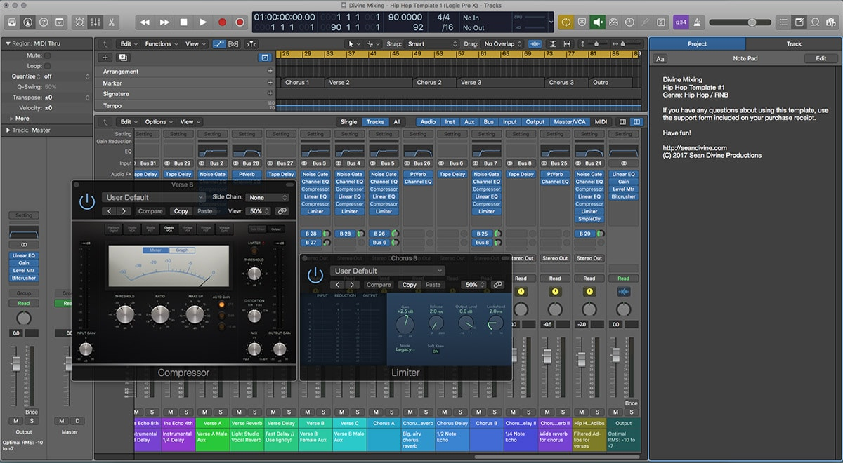 Divine Mixing Template One Logic Pro Cubase Pro Tools