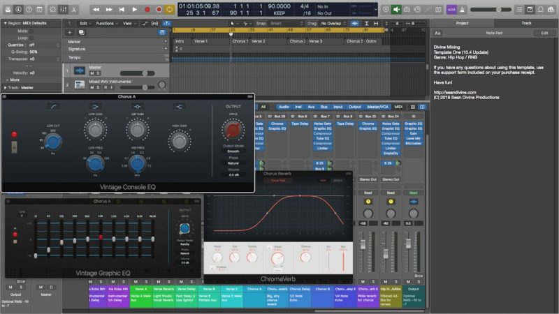 Divine Mixing Template One Hip Hop And R B Daw Template