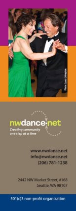 NW Dance Network bookmark (front)