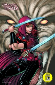 Scarlet Huntress Comic-Con 2016 Exclusive Print, All Art by Sean Forney