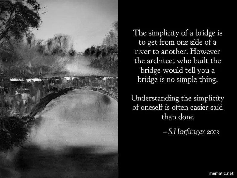 Cross the bridge to a better you.