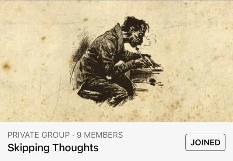 Skipping thoughts through Facebook.