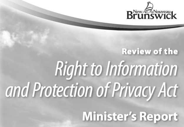 The New Brunswick government's records access law recommendations will do little to help information seekers in that province. (Graphic by Province of New Brunswick)