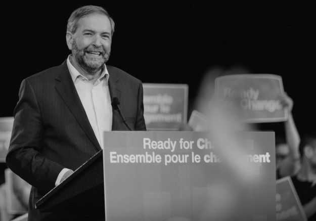 """The cover of the NDP's campaign platform promises that party leader Tom Mulcair is """"Ready for Ch"""" But what kind of """"Ch"""" will the Mulcair make to the country's records access law? (Photograph by NDP)"""