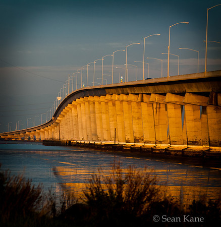 Sunset at the Dumbarton Bridge
