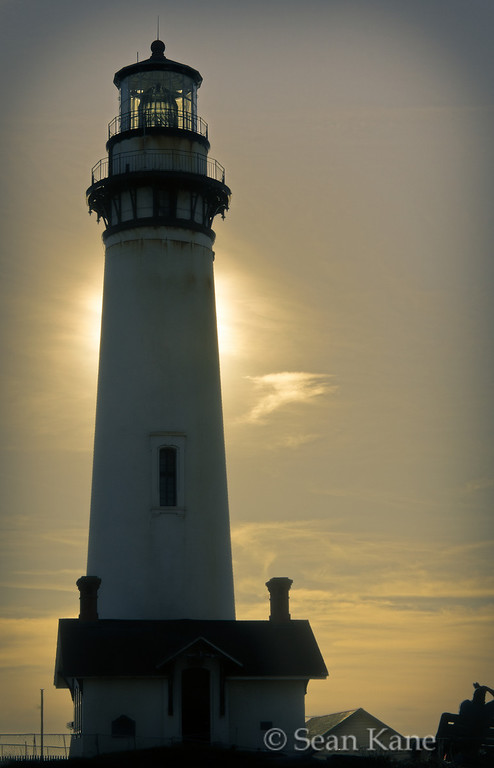 Sun Behind Pigeon Point Lighthouse