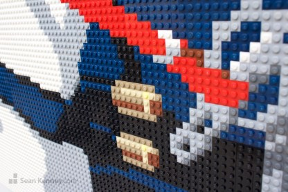 lego horse mural mosaic artwork