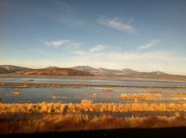 On the train at Klamath Lake