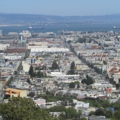 View out towards the Mission District and the bay