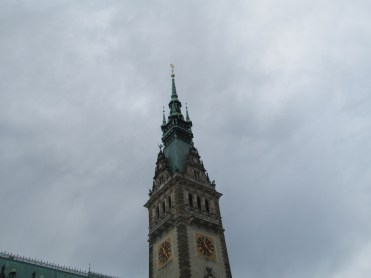 Town hall tower in Hamburg