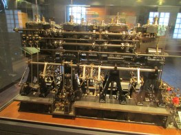 A model of the Titanic engines.