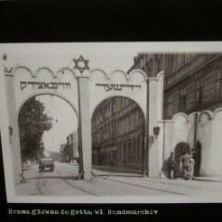 The ghetto entrance in 1942