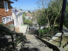 Looking down the Saturn Street steps